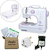 Sewing Machines with Extention Table, Portable and Multifunctional Electric Overlock Household Sewing Tool