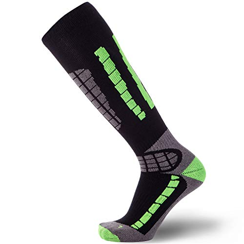 Pure Athlete Ski Socks - Best Lightweight Warm Skiing Socks