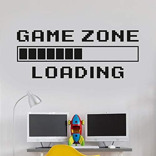 Spielzimmer Hauptdekoration Computer Laden Videospiel Laden Wandaufkleber Wand Zitat Wandbild Spieler Logo Aufkleber Spielzimmer Dekoration 57X22CM