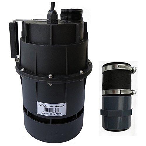 """alfa-pool Gebläse 230V 700W mit integriertem Druckwellenschalter Anschluss 1 1/2""""/50mm Schlauchmuffe"""