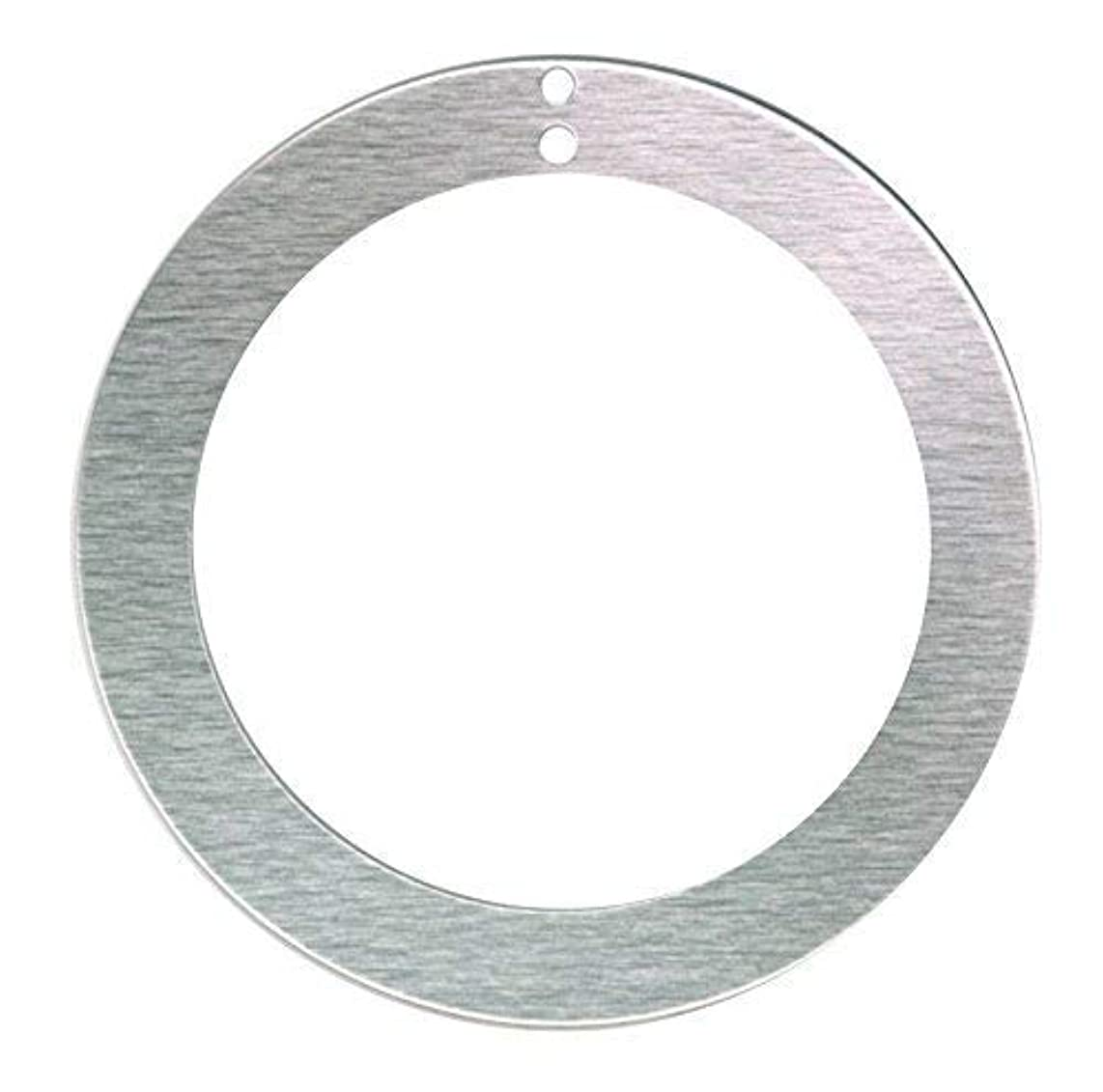 RMP Stamping Blanks, 2 Inch Round Washer with 1-1/2 Inch Center and Two Top Holes, Aluminum 0.063 Inch (14 Ga.) - 50 Pack