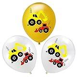 JSJJARD Globos Niños 1pc vehículo de Serie Feliz Cumpleaños Globos Partido decoración del Tanque de la Motocicleta Regalo del bebé vagón de Tren de Camiones contra Incendios (Color : Gold)