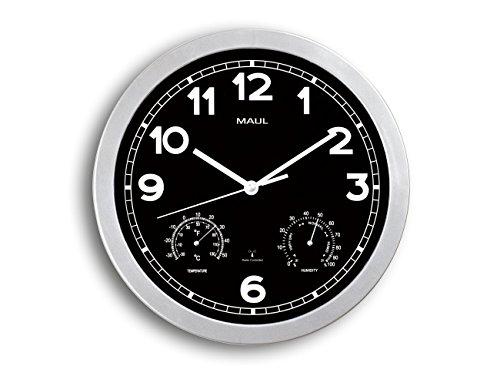 Maul 9059095 radioklok, kunststof, zilver, Ø 30 cm