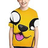 Hengtaichang Children's T-Shirt Mikecra-CK Cool Style Short-Sleeved T-Shirt Mikecra-CK Black