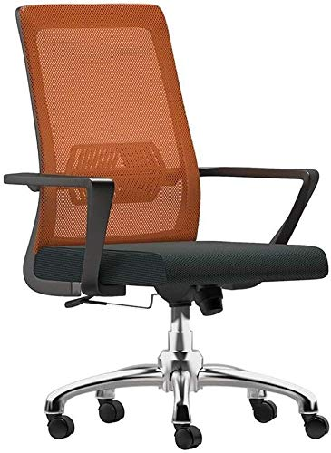 THBEIBEI Office Chair High-back Mesh Office Chair Adjustable Height Ergonomic Computer Desk Chair with Lumbar Support Excutive Gaming Chair for Office Meeting Room Athletic Chair ( Color : Orange )