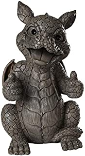Pacific Giftware Garden Dragon Thumbs Up Dragon Garden Display Decorative Accent Sculpture Stone Finish 10 Inch Tall