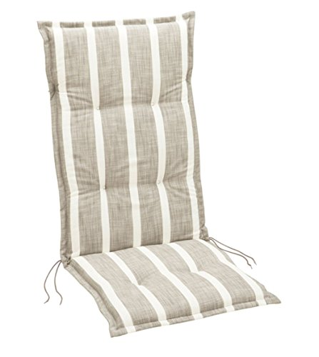 Summerset Weston Coussin pour Chaise Longue, Polyester, Taupe, 117x49x6 cm