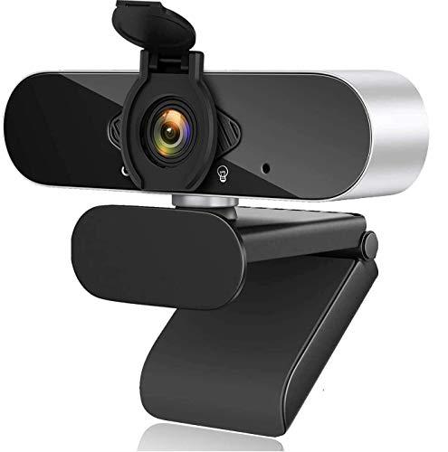 Aode Cámara web con micrófono Full HD 1080P, cámara web para ordenador con gran angular, cámara USB para PC/Mac/ordenador de sobremesa, para videoconferencias, grabación y chat de vídeo