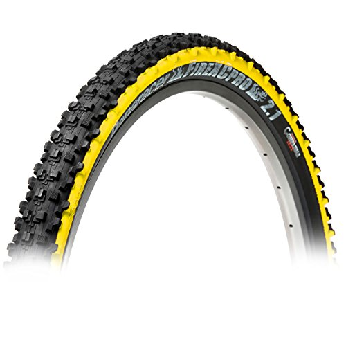 Panaracer Fire XC Pro Folding MTB Tyre, Black/Yellow, 26 x 2.1-Inch