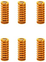 XLY 8mm OD 20mm Long Light Load Compression Mould Die Spring Yellow 10pcs
