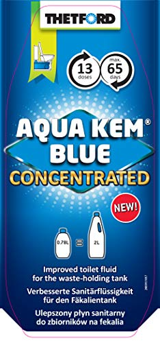 Thetford 30619CX Aqua KEM Concentrated Blue Toilet Fluid-780ml