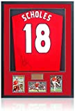 British Sports Museum Paul Scholes - Camisa firmada a mano del Manchester United