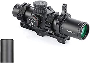 Sniper VT 1-6X28 FFP First Focal Plane (FFP) CQB Scope 35mm Tube ED Optics System with Red/Green Illuminated Reticle Fit .223 5.56