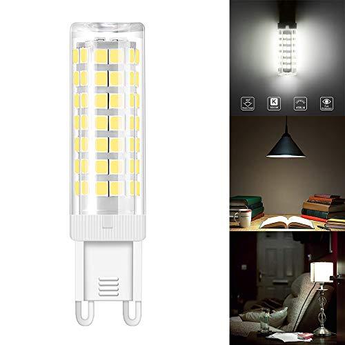 ABEDOE G9 keramische fitting LED gloeilampen, 76 SMD 2835 Leds maïslamp licht,6W 450LM 3000K, 360 graden stralingshoek, flikkert niet