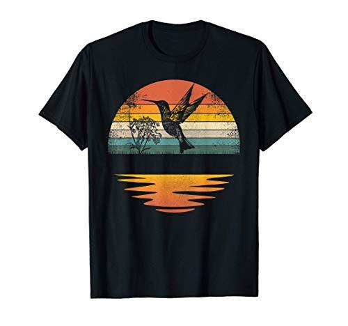Hummingbird Vintage Retro Sunset Hummingbirds T-Shirt