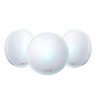 ASUS LYRA MINI MAP-AC1300 Dual Band Whole-Home Mesh WiFi System, Up to 4500 sq ft, Corner to Corner Coverage, Commercial Grade Security, Router, Range Extender, App Easy Setup, Pack of 3, White (B076GLQ1BT)   Amazon price tracker / tracking, Amazon price history charts, Amazon price watches, Amazon price drop alerts