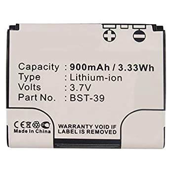 Synergy Digital Cell Phone Battery Compatible with Sony Ericsson BST-39 Cell Phone  Li-ion 3.7 900mAh  Ultra High Capacity Replacement for Sony Ericsson BST-39 Battery