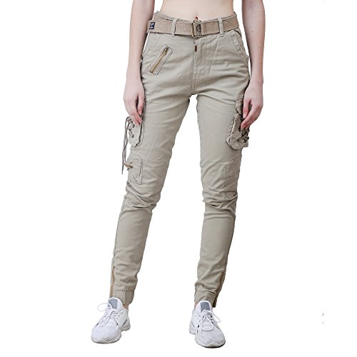 EditLook Women's Cotton Cargo (WC-04A-32, Beige)