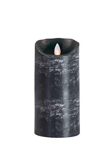 sompex Flame Echtwachs LED Kerze, fernbedienbar, anthrazit - in verschiedenen Größen, Höhe:18 cm