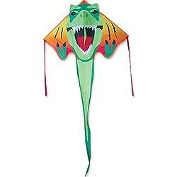 2. Premier Kites Large Easy Flyer T-Rex Dinosaur Kite (46″ x 90″)