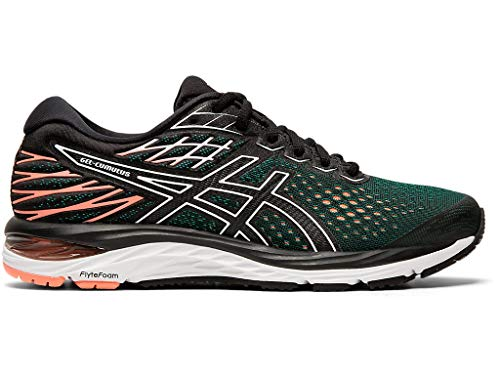 ASICS Women's Gel-Cumulus 21 Running Shoes, 8.5W, Black/Sun Coral