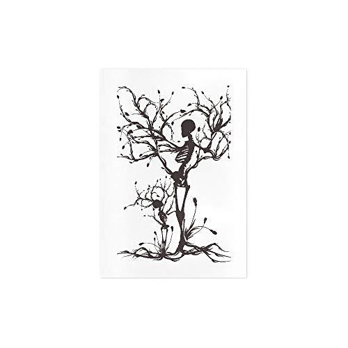 Impresión de arte en lienzo Ilustración conceptual del árbol de la vida Decoración de pared Arte Lienzo minimalista Arte de pared Decoración de habitación de dormitorio Oficina Decoración de pared de