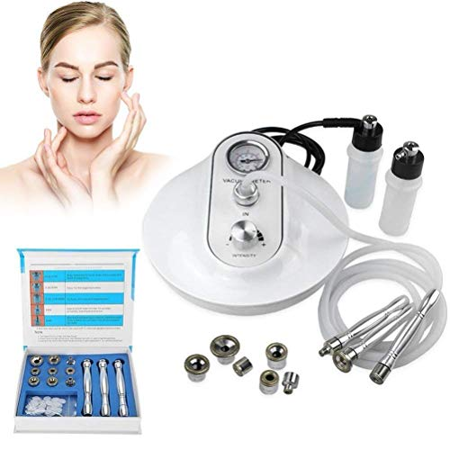 Qualilife 3 in 1 Diamond Microdermabrasion Machine, Best Anti Aging Treatment Blackhead Remover and Pore, Skin Peeling Rejuvenation Lifting Tightening Beauty Device (Suction Power: 65-68cmHg)