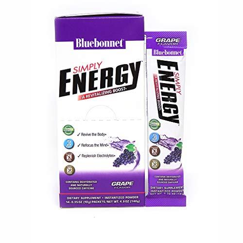 Bluebonnet Nutrition Simply Energy Powder, Grape, 14 Count