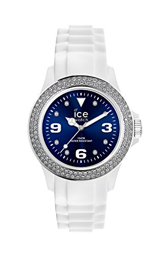 Ice-Watch - ICE star White Blue - Women\'s wristwatch with silicon strap - 013747 (Medium)