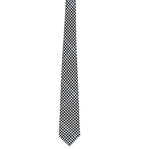 Lochcarron of Scotland Buccleuch Cravate en laine Motif tartan Noir/blanc