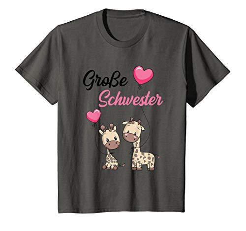 Kinder Große Schwester 2020 Giraffen süße Geschenkidee Mädchen T-Shirt