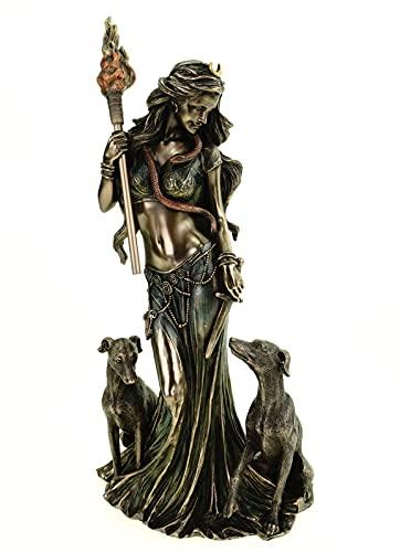 Veronese 708-7763 - Figura de bruja griega (34 cm), diseño de la diosa magia griega