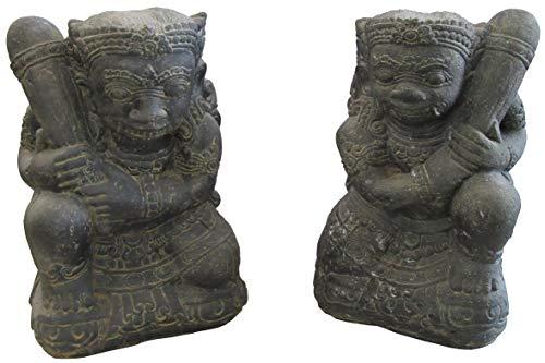 STONE art & more Tempel-Wächter Gopala 2er Set, 46 cm, Steinfigur, Steinguss, frostfest