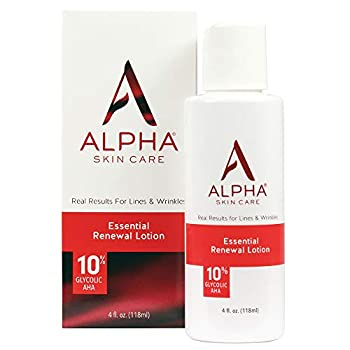 Alpha Skin Care Essential Renewal Lotion | Anti-Aging Formula | 10% Glycolic Alpha Hydroxy Acid  AHA  | Reduces the Appearance of Lines & Wrinkles | For Normal to Dry Skin | 4 Oz