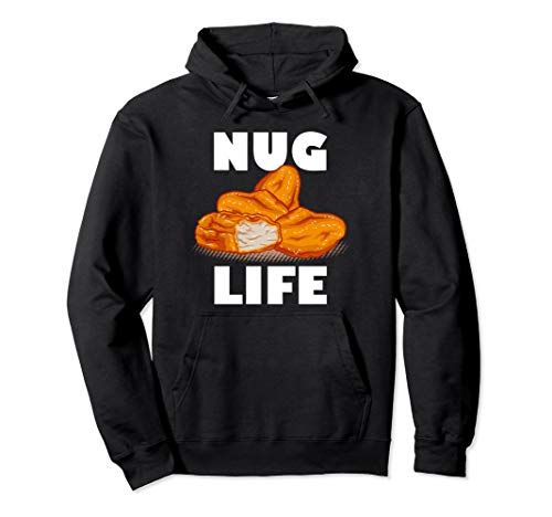 Nug Life, Chicken Nugget, Thug Pullover Hoodie