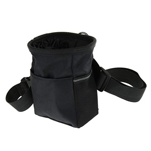 Baoblaze Comida para Perros Snack Treat Bait Training Jogging Walking Riñonera - Negro