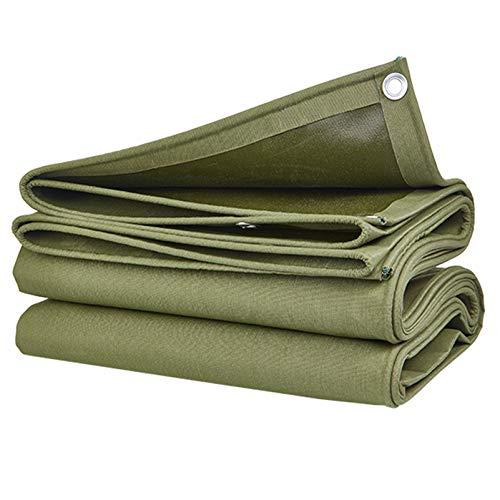 QIAOH Lona Impermeable 4X8m, Lona De Protección Lona Impermeable Exterior, Lona De Alta Resistencia Lona Reforzada Ojales Gruesos,para Muebles De Jardín, Madera, Vehículos Y Barcos