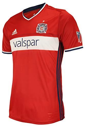 adidas Herren MLS Team Jersey Crew Neck Team Variation, Herren, Chicago Fire, Small