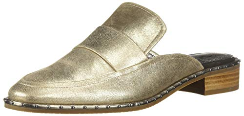 Adrianna Papell Women's Panama Loafer, Platino Frost Leather, 7.5 M US