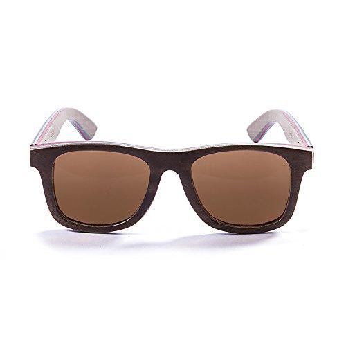 Ocean Sunglasses Wood Venice Beach - Gafas de Sol de Madera - Montura : Marrón - Lentes : Marrón (54001.3)