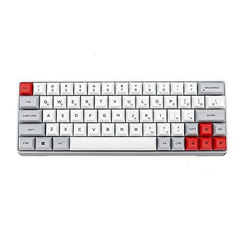 L-yxing Obra de Arte GK64 KeyCap PBT Aleación de Aluminio Shell Gaterope Interruptor Teclado técnico KeyCap Hot Swap RGB KeyCap (no Teclado) Llaves de Alta Durabilidad (Color : Red)