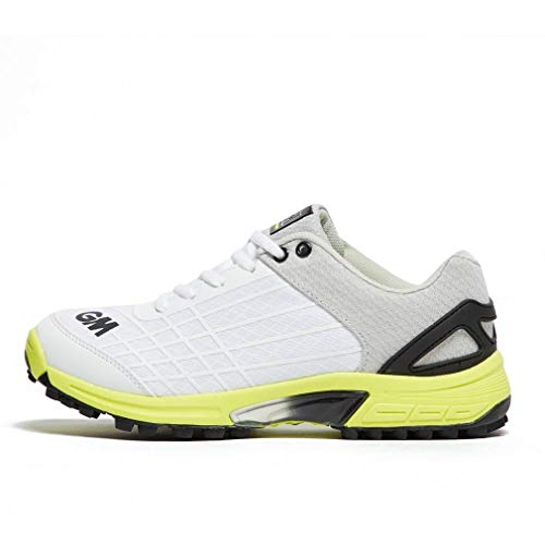 Gunn & Moore Original All Rounder Junior Cricket-Schuhe, Weiß - gelb - Größe: 17 EU