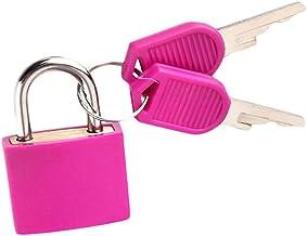 Kunststof hangslot met 2 sleutels kleine gekleurde messing hangsloten voor gereedschapskist, dagboek, schooltas, koffer (g...