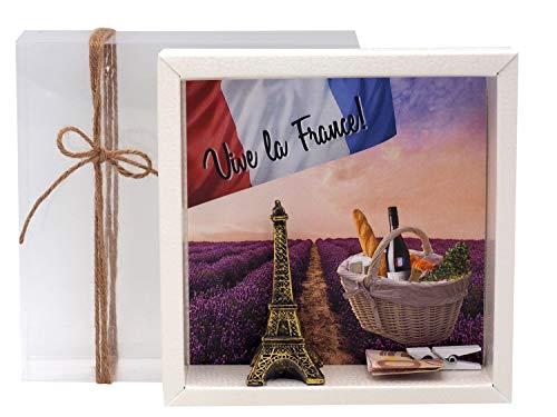 ZauberDeko Geldgeschenk Verpackung Frankreich Paris Urlaub Reise Eiffelturm Gutschein
