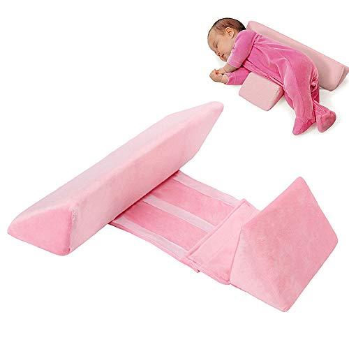 WELLXUNK® Baby Kissen, Baby Seite Schlafkissen, Dreieckskissen Baby Sicherheitskissen, Seitenlagerungskissen, Dreieck Baby Lagerungskissen, Baby Kopfkissen gegen Kopfverformung und Plattkopf