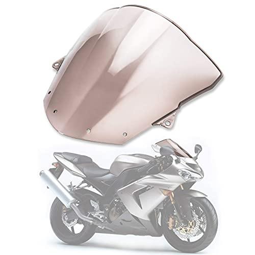 Moto Pare-Brise écran Shield pour Kawasaki Ninja ZX10R 2008-2010 ZX6R 2009-2014 (Fumée)