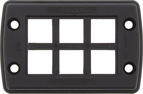 Conta-Clip 28603.4 Kabeldurchführungssystem KDSClick, bestehend SR 6/10, 2, 1 x KDS-Inlay 6, Schwarz, Set BK