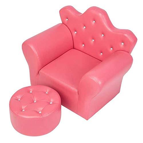 HQSB Mini sofá de PVC de esponja para niños, silla de descanso, silla de juego, silla de princesa, rosa rojo