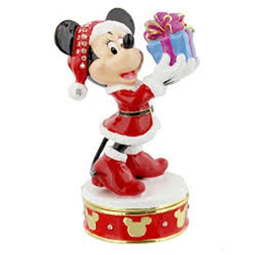 Boîte à bijoux en métal à collectionner–Disney officiel Minnie Mouse de Noël–D1346