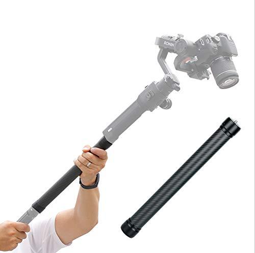 Linghuang Varilla de Poste Varilla Extensible 1/4 '' 3/8 '' Rosca Universal Compatible para dji Ronin S Moza Air Cross FeiyuTech AK4000 Zhiyun Crane 2 Smooth 4 Stabilizer Gimbal